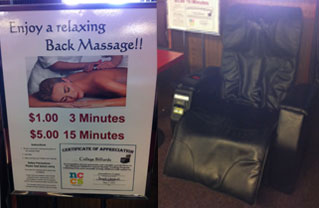 College Billiards Massage Chair